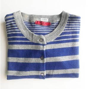 RED Stripped Cardigan Petite Size Small
